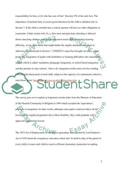 Compulsory Education essay example