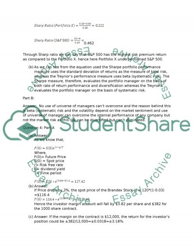 Investments essay example