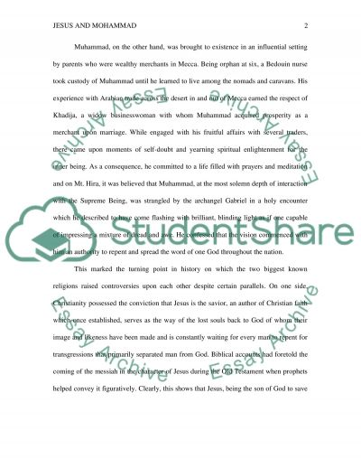 Jesus and Mohammad Paper essay example
