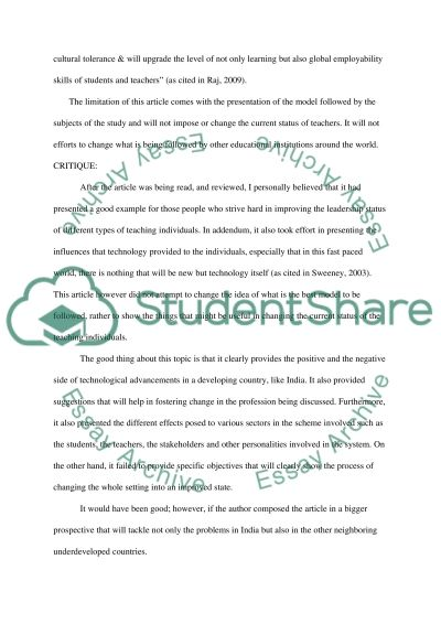 Abstract critique essay example