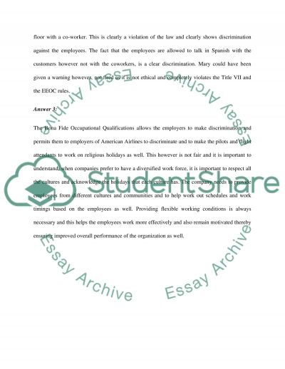 Employment law paper essay example