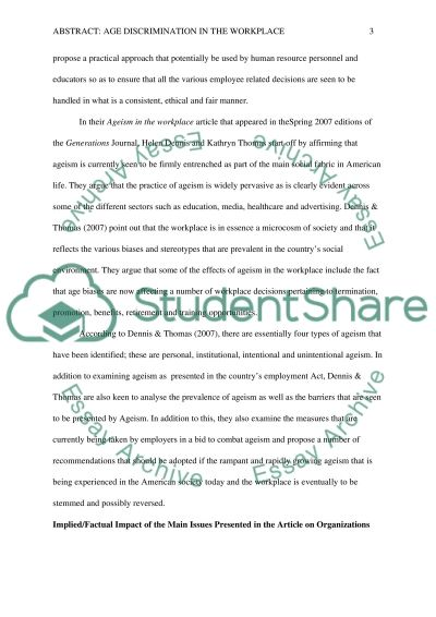 Abstract Essay example