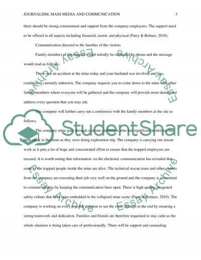 Mine Collapse on 33 Chilean Miners essay example