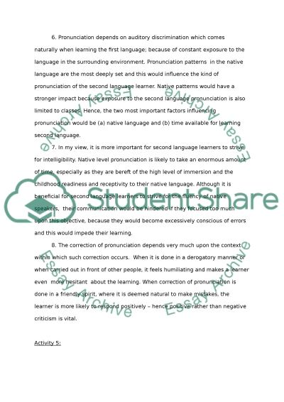 Interlanguage and teaching the language system Coursework example