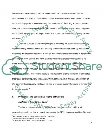 Foreign Investment essay example