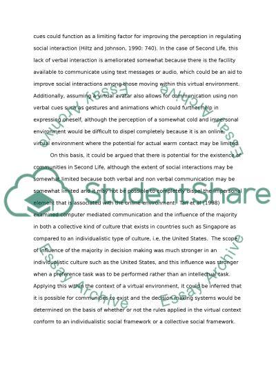 Sociological Essay - Internet Culture essay example