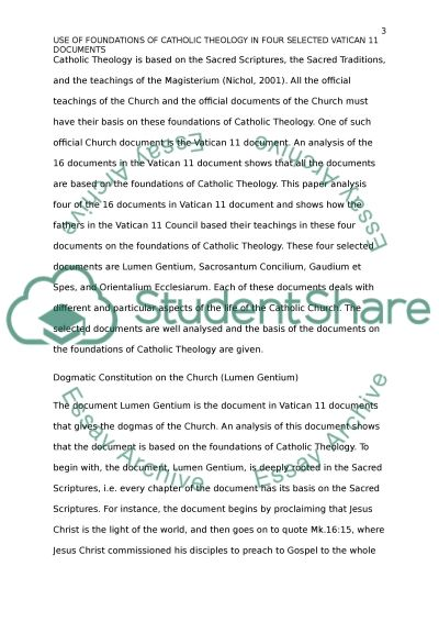 Foundation of Theology essay example