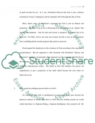 Theology paper essay example