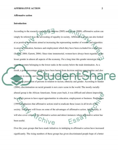 Affirmative Action essay example