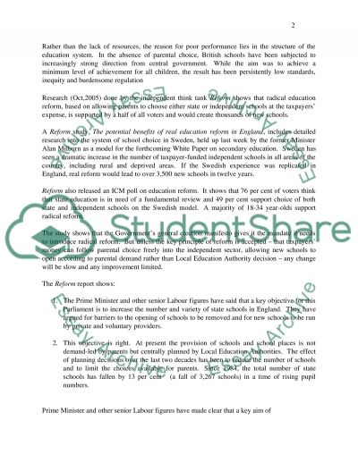 Performance Management in Education essay example