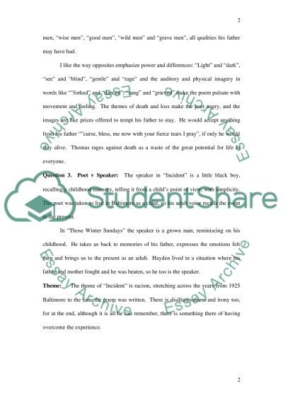 English 102 College Poetry assignment essay example