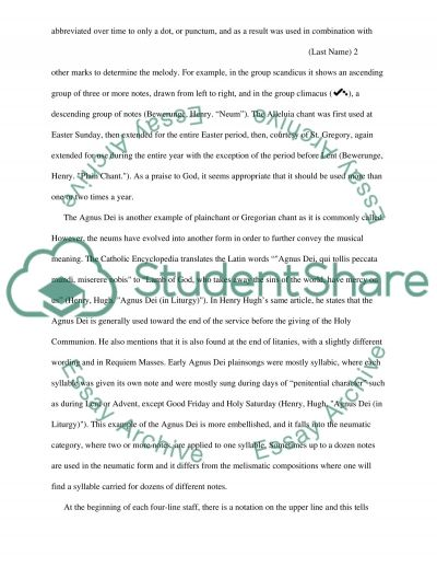 Music History Essay example