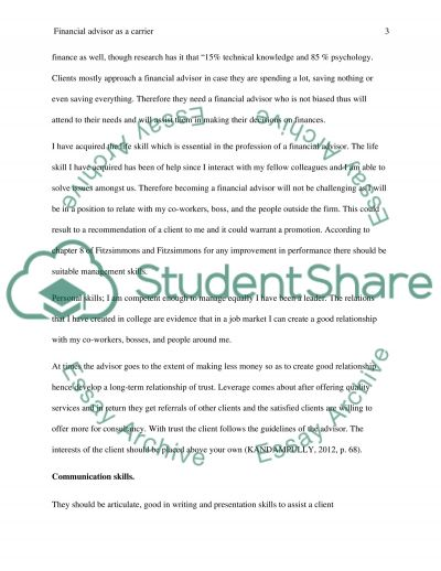 career exploration essay paper You have not saved any essays my occupation of choice for exploration is that of an educational guidance, school, and vocational counselor educational, school, vocational and guidance.
