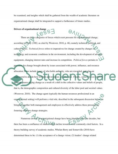 Organizational Change A Literature Review essay example