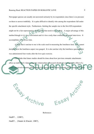 Memoirs Essay Examples Reaction Paper On Romantic Love Conceptualized As An Attachment Process By  Hazan C Irony Essay also Essay On University In Diversity Reaction Paper On Romantic Love Conceptualized As An Attachment Essay Difficulties In Writing Essay