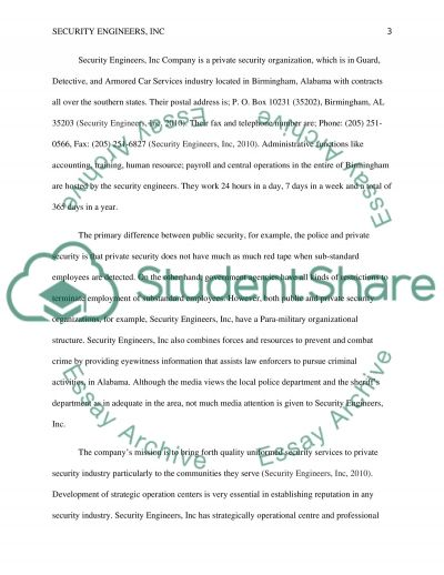 Security Engineers Inc essay example