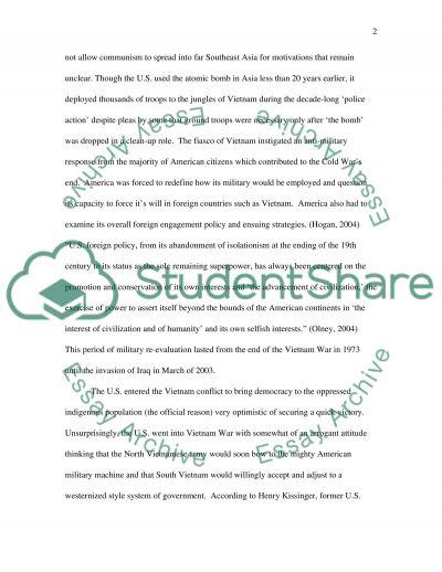 Vietnam War essay example