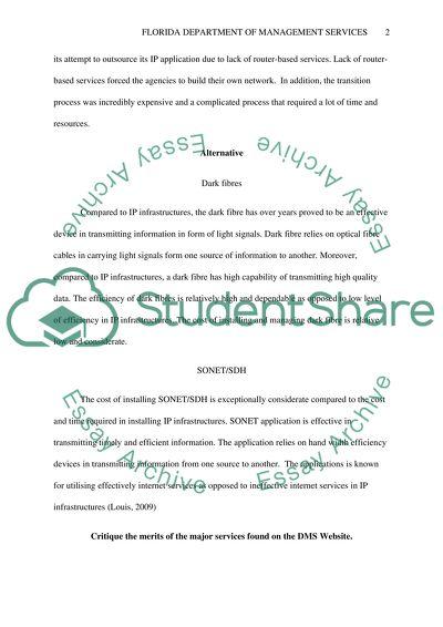 Case Study 1: Florida Department of Management Services, Part I