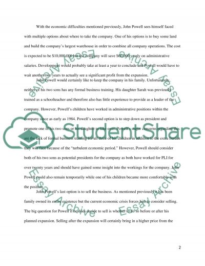 Writing a Summary essay for the case study