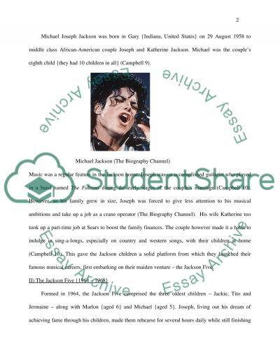 Michale Jackson essay example