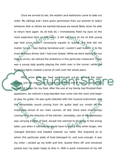 narrative essay about the most memorable meal Write a narrative essay describing a memorable meal, can you write an essay in a day, creative writing ncea.