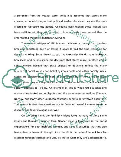 Alternative perspectives of international political economy 2