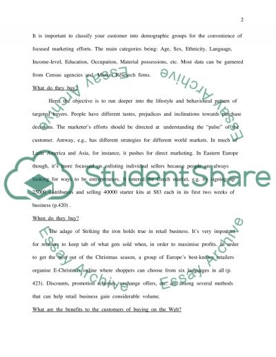 Design of a Retail Organisation based on Marketing Principles essay example