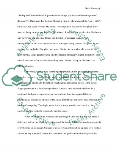 Good Parenting for Single-parents essay example