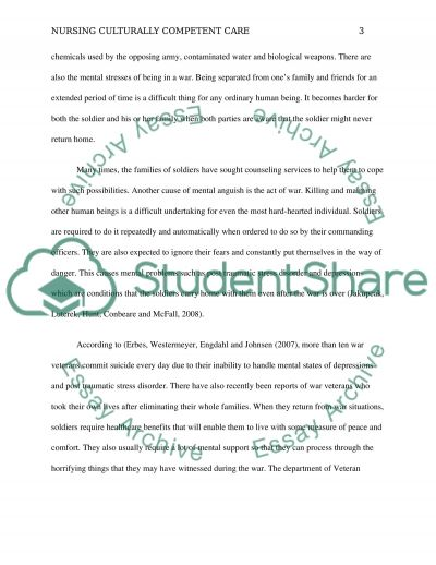 Culturally competent care essay example