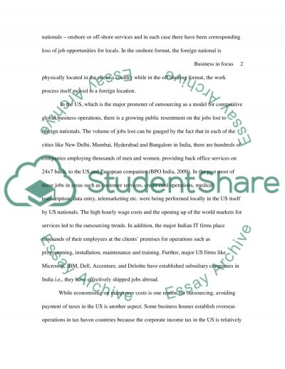 Business in Focus & Research Skills essay example