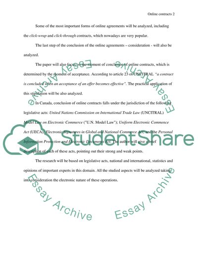Outline and abstract essay example