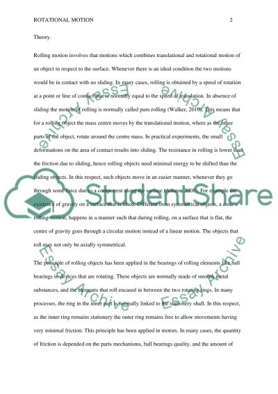 Writing a physics report essay example