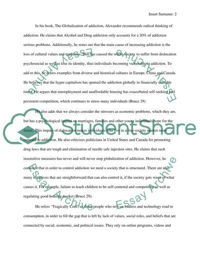 Sociology: Addiction Essay