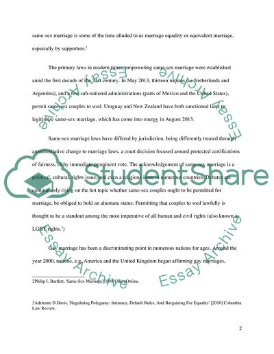 same sex marriage essay topics in Brantford