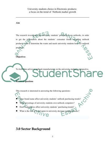 Markerting essay example