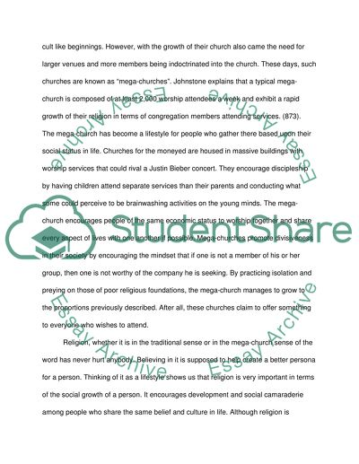 Sociology of Religion Paper 4