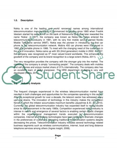 Organizational Profile Using Secondary Research Assignment Research Paper example
