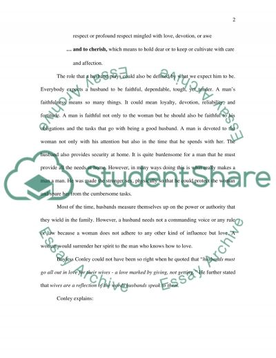 Husband, Lover and Friend Essay example