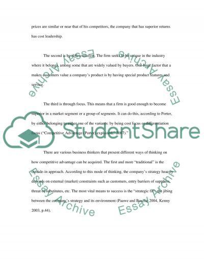 Rethinking Strategy essay example