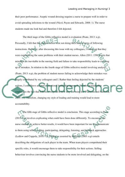 Leadership theory and behaviour reflective essay