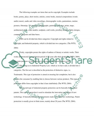 The role of Intellectual Property essay example