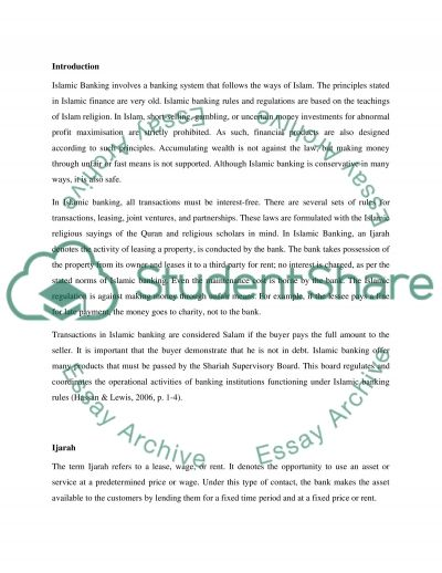 Islamic Banking as a banking system that follows the ways of Islam essay example