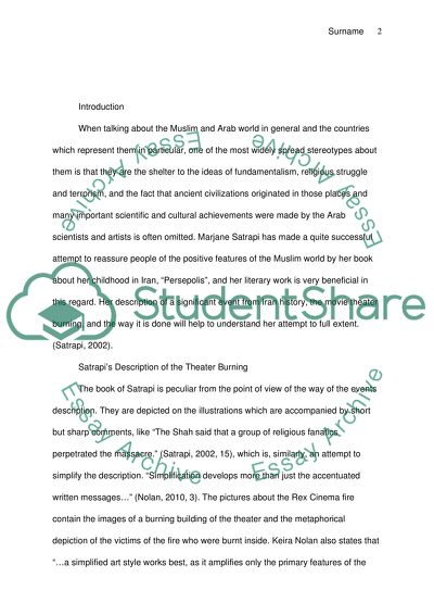 Good Thesis Statement Examples For Essays Persepolis Fifth Business Essay also Essay On Health Awareness Persepolis Essay Example  Topics And Well Written Essays    Romeo And Juliet English Essay