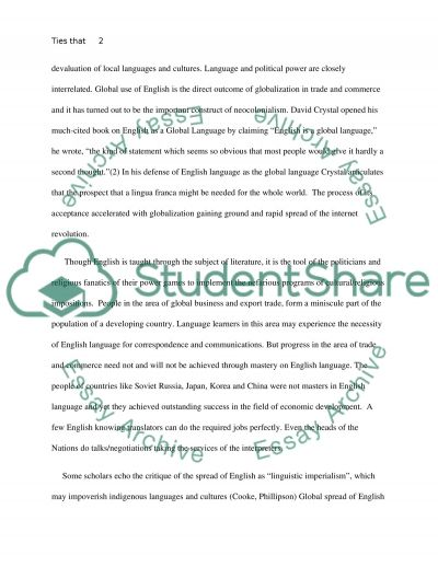 Ties that constrict:English as a Trojan Horse essay example