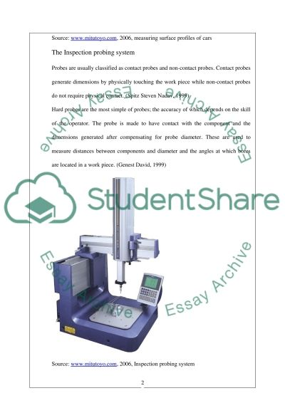 CNC-CMM & Poisson Distribution Coursework example