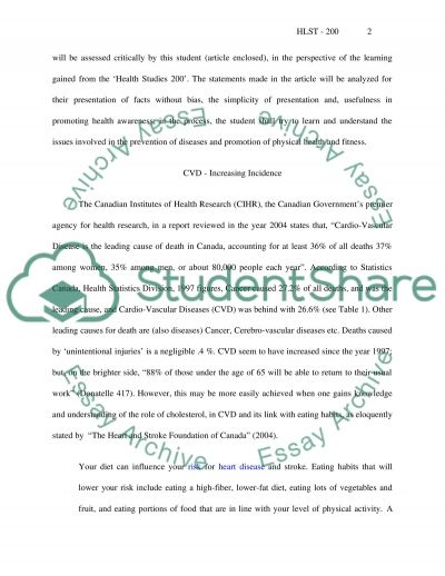 Human Health essay example