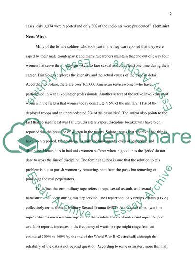 Sexual assault essay