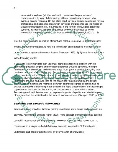Semiotic and Semantic Information essay example