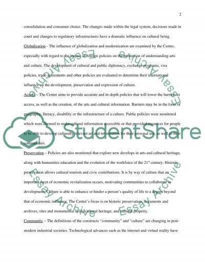 Management and the Arts essay example