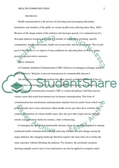 CMC Research Paper essay example